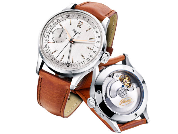 Habring2 stainless-steel Foudroyante-Felix on leather strap, from €7,050