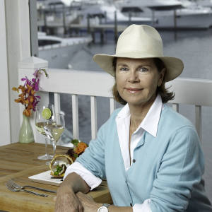 Katrin Theodoli at The Galley restaurant, Ocean Reef Club, Florida.