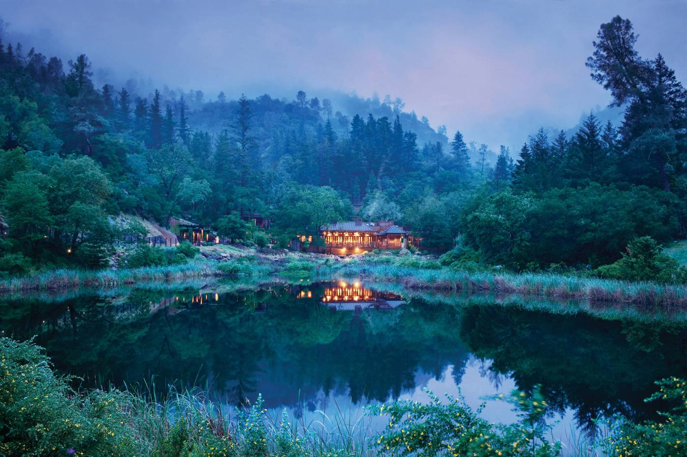 Auberge Resorts' Calistoga Ranch, set in a deepcanyon in northern California's Napa Valley
