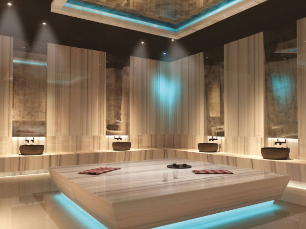 Rendering of Voyage Belek's spa, which awaits you with its refurbished spaces and a service designed purely for your relaxation