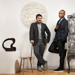Valerio Capo (left) and Sam Pratt, co-directors of Gallery Fumi, with