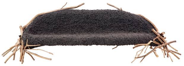 Estudio Campana bronze and fabric Branches sofa, $145,000