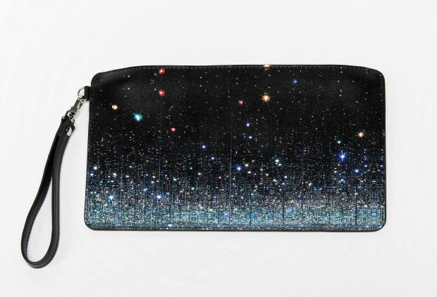 Leather Infinity clutch, $75