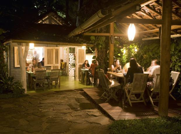 The Capim Santo restaurant at Trancoso, Bahia.
