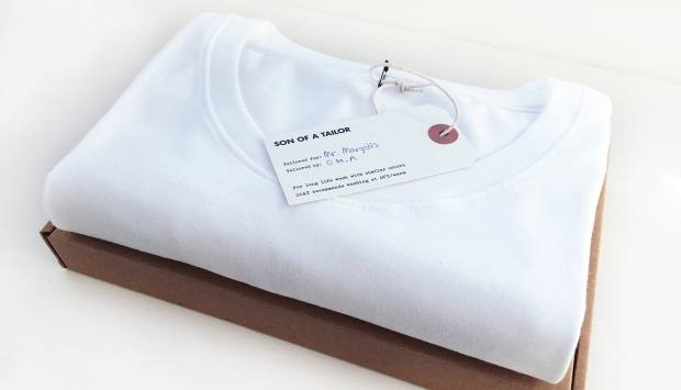 Son of a Tailor T-shirts are made-to-measure and cost from £34.50