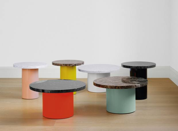 Enoki side tables with Nero Marquina marble tops by Philipp Mainzer for e15, from £695, from Viaduct
