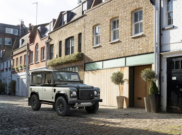 A Land Rover Defender special-edition Autobiography