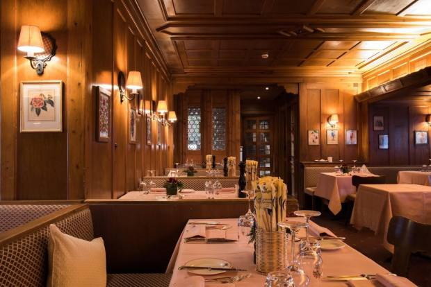 The restaurant at the Olden Hotel is a favourite place for dinner on Saturday