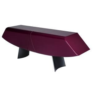 Roche Bobois limited-edition Papillon sideboard (80cm x 240cm x 48cm) by René Bouchara, in resin-veneered wood with glass shelves, £8,170