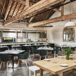 The new Ox Barn restaurant at Thyme, in the Cotswolds