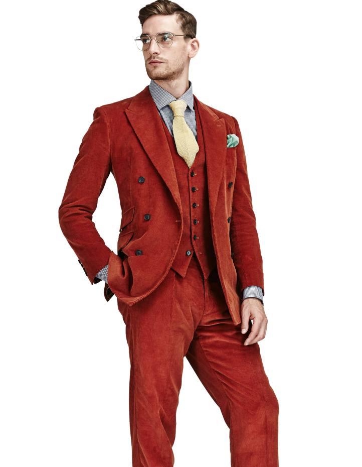 200adadbff Richard Anderson velvet-corduroy three-piece suit