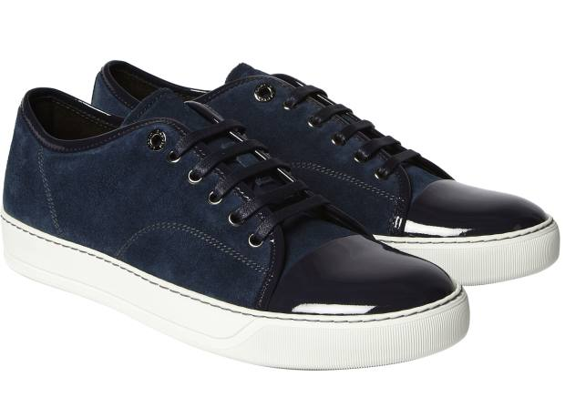 Lanvin suede and patent leather sneakers, £290.
