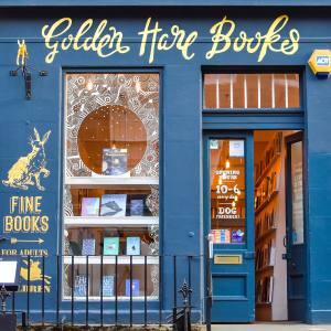 Golden Hare Books is located north of Edinburgh city centre in Stockbridge