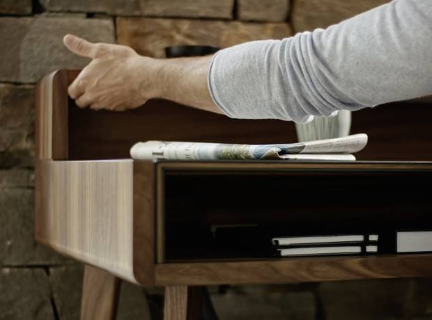 Sol - elegant solid wood home study desk from Austria