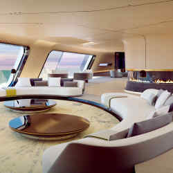 Oceanco's new 115m Tuhura concept has pared-back interiors designed by Achille Salvagni