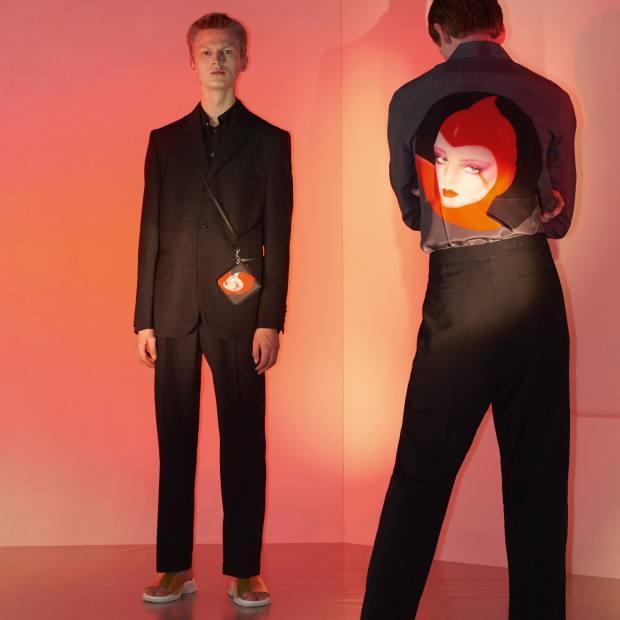 Stella McCartney crepe de Chine shirt, £535, featuring thework of Pater Sato
