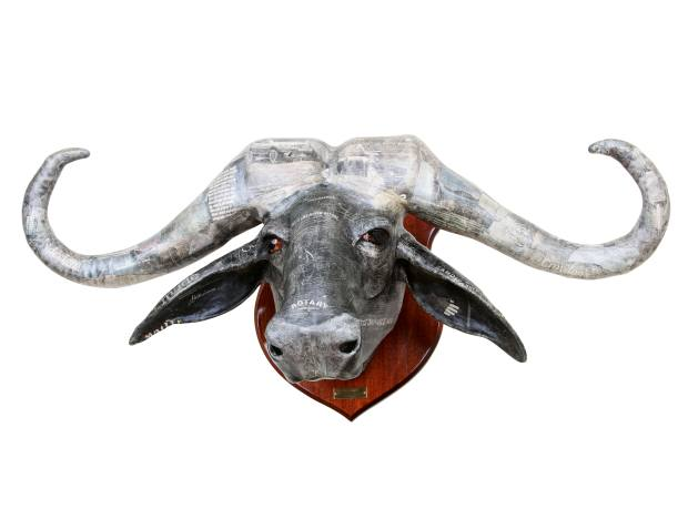 David Farrer papier-mâché and wood Cape buffalo head, £3,550