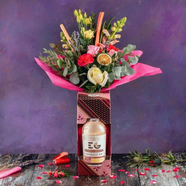 Edinburgh Gin Rhubarb and Ginger Bouquet, £65