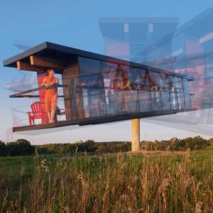 Artist designers Alex Schweder and Ward Shelley's experimental ReActor house,inNew York State,spins when the wind blows and tiltsfrom side to side according to the shifting weight of its inhabitants