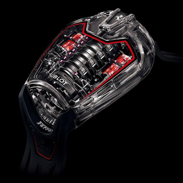50 days: Hublot sapphire-crystal MP-05 LaFerrari Aperta on rubber strap, £458,000