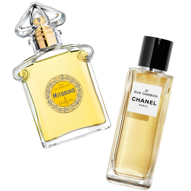 From left: Guerlain Mitsouko, £93 for 75ml EDP. Chanel 31 Rue Cambon, £155 for 75ml EDP
