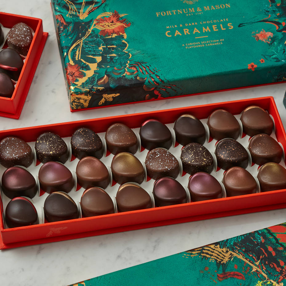 Traditional favourites, such as caramels, are given a modern twist with flavours such as oud, rose, passionfruit and liquorice