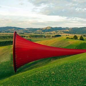 Sculpture by Anish Kapoor at Gibbs Farm in New Zealand.