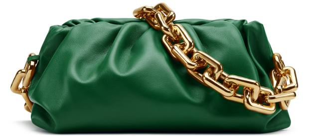 The Bottega Veneta Pouch designed in Harrods racing green, only available in February