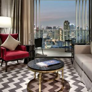 Sumptuous living room in the Ayutthaya Suite at 137 Pillar Suites in Bangkok