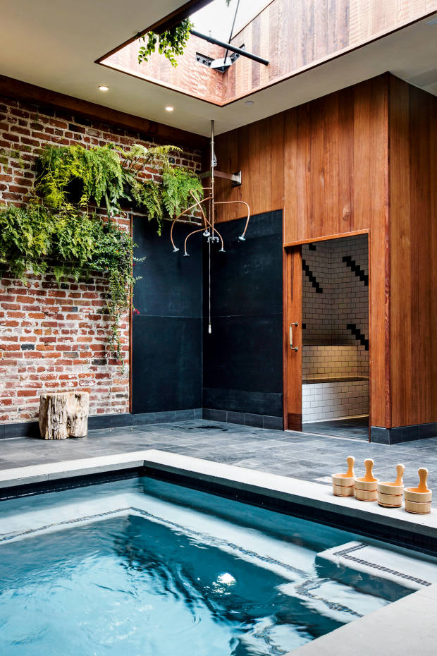The bathhouse in the Onsen tearoom in San Francisco