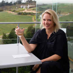 Gallerist Trevyn McGowan at the Beau Constantia wine estate