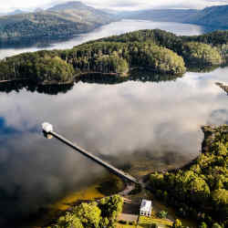Pumphouse Point wilderness retreat, Tasmania