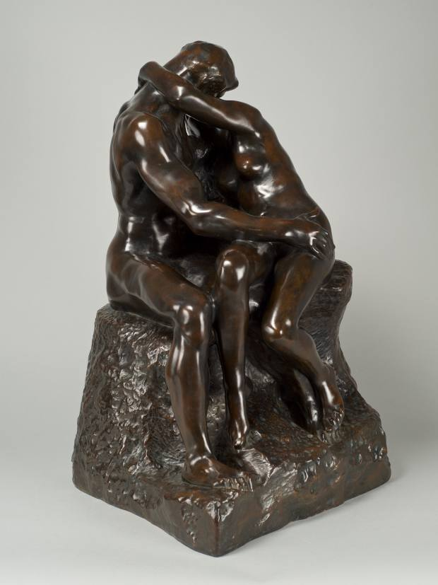 Le Baiser (The Kiss), second reduction, by Rodin