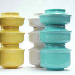 Hokan bowls can be used to serve food as well as store it