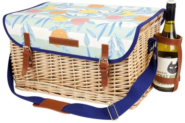 Sunnylife Luxe Dolce Vita picnic basket with fold-up wooden table, £130