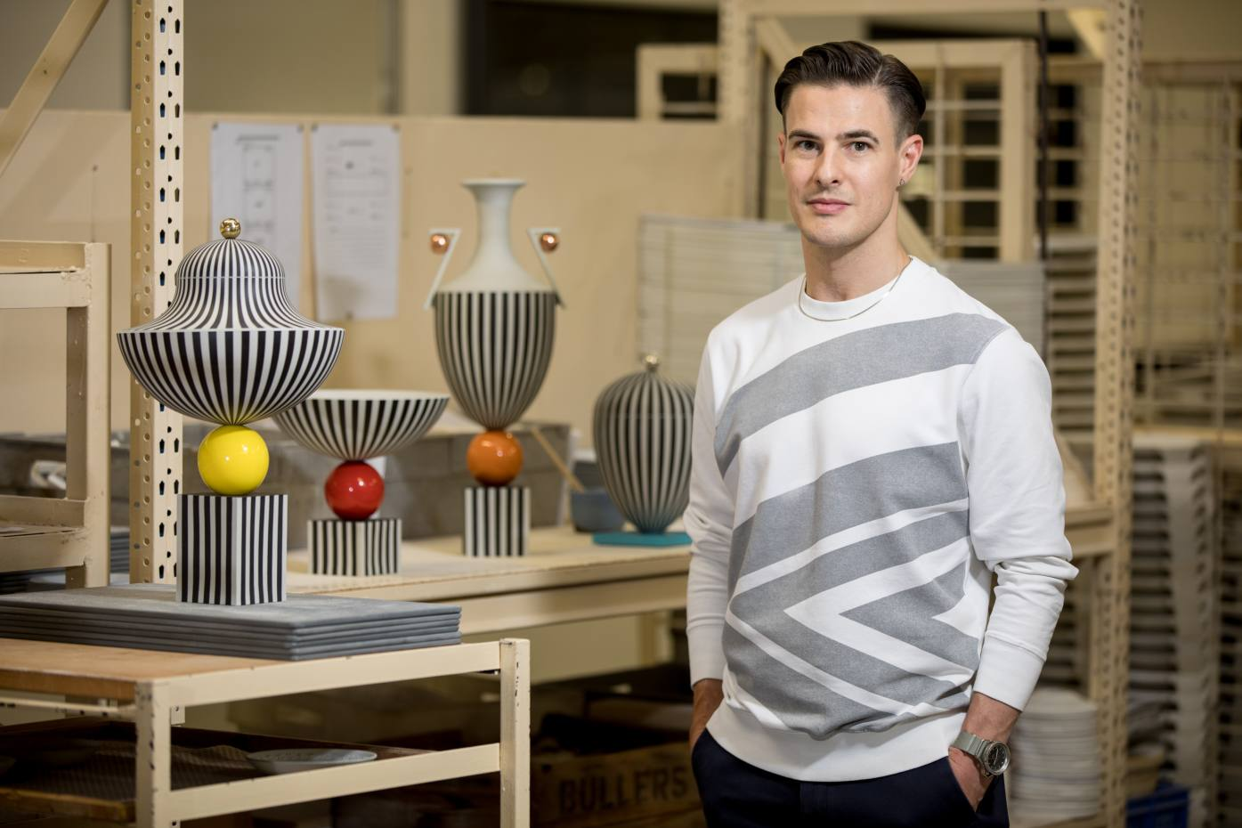British designer Lee Broom with his new collection for Wedgwood