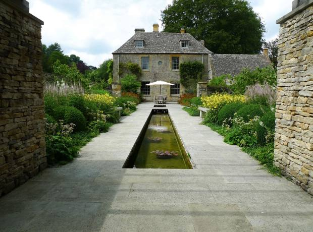 The Canal Garden, part of the Dan Pearson-designed garden at The Old Rectory, Gloucestershire.
