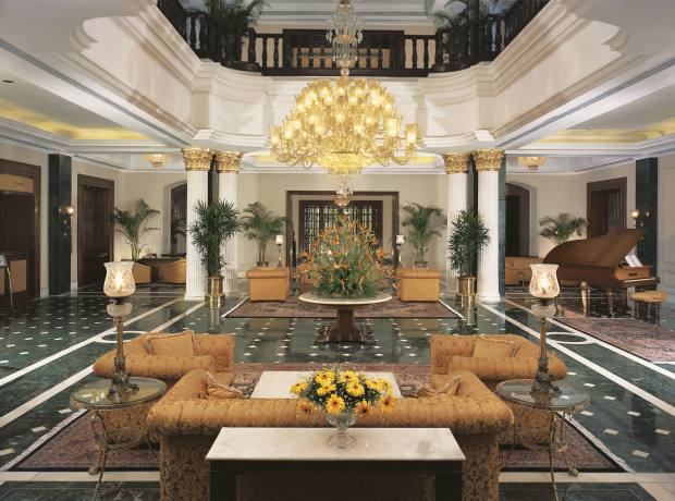 The lobby of The Oberoi Grand hotel.