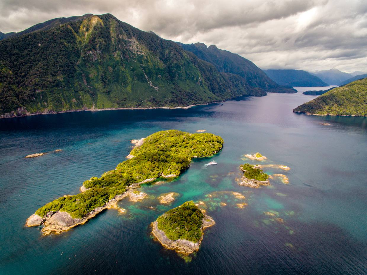 The Fiordland region, in the southwest corner of New Zealand's South Island