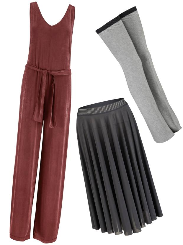 The Principal Dancer jumpsuit, £108, leg warmers, £48, and mesh skirt, £58