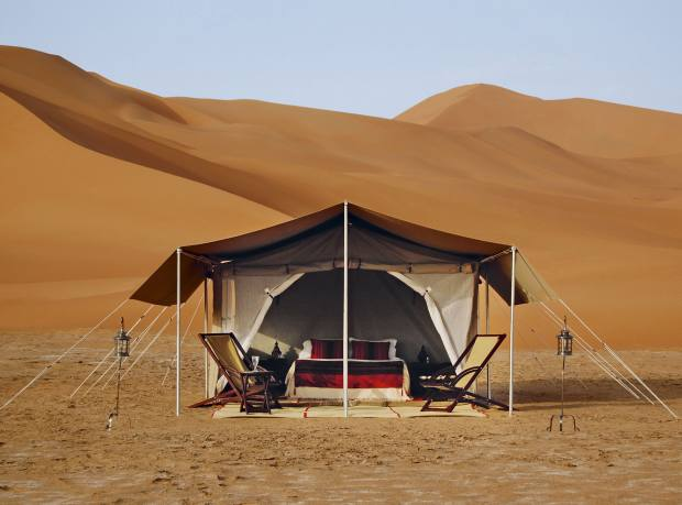 Hud Hud Travels' luxury camp, in the Empty Quarter, Oman