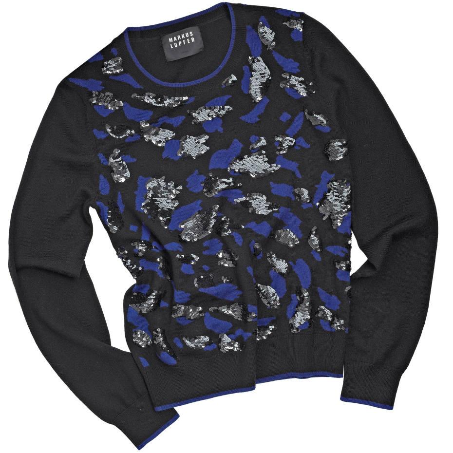 Markus Lupfer merino wool Camouflage Sequin Grace jumper, £420