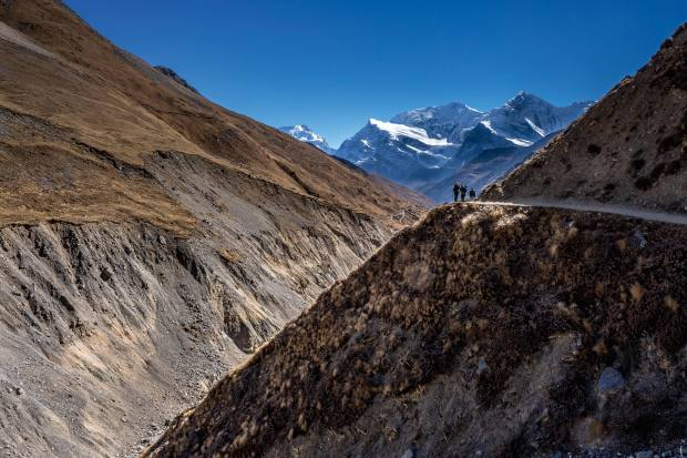 The Annapurna Circuit consists of tranquil high-altitude trails in the Nepalese Himalayas