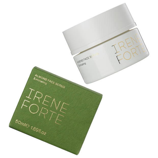 Irene Forte Almond Face Scrub, £69 for 50ml