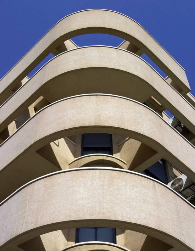 A Bauhaus building in Tel Aviv.