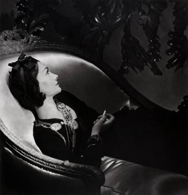 Coco Chanel, Paris, 1937, by Horst P. Horst, estimate $4,000-$6,000