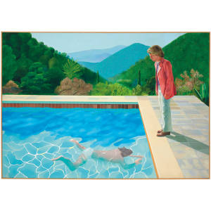 David Hockney's Portrait of an Artist (Pool with Two Figures) is estimated to sell for a record figure at Christie's New York
