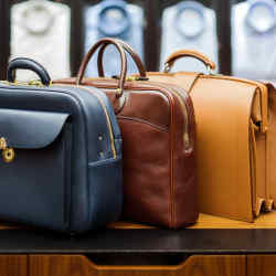 Ortus's bespoke and traditional briefcases are available in a variety of colours