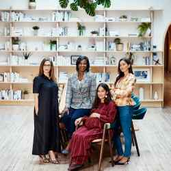 From near right: chief partnerships officer Melanie Altarescu, chief financial officer Diedra Nelson and co-founders Audrey Gelman and Lauren Kassan