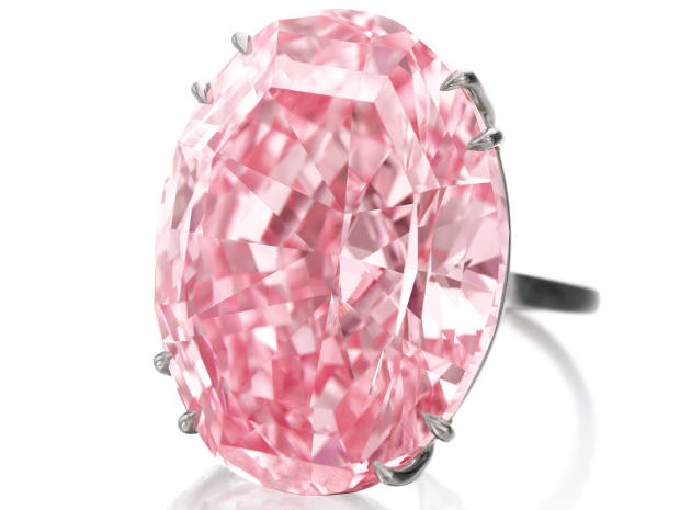 2017: The Pink Star diamond sold at Sotheby's Hong Kong for £57.3m, setting a new world record for gemstones at auction